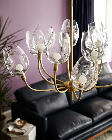 10-Light Glass-Globe Chandelier