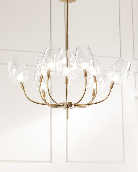 John-Richard Collection 10-Light Glass-Globe Chandelier