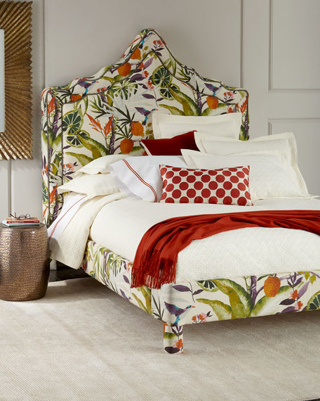 Old Hickory Tannery Bryony Floral Queen Bed and