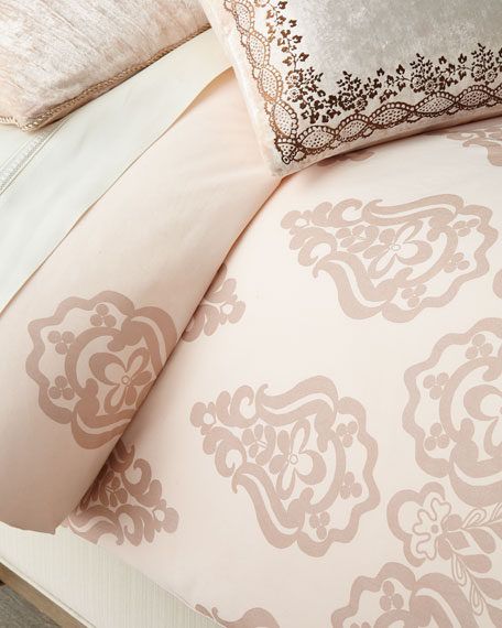 Divine Designs Rose Gold Queen Duvet Cover and