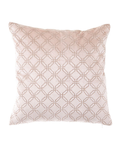 Divine Designs Rose Gold Square Decorative Pillow