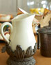 Cream Ceramic Pitcher