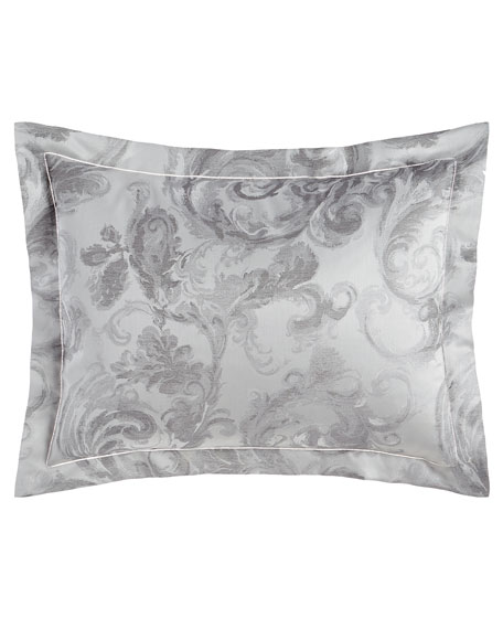 King Gray Scroll Sham