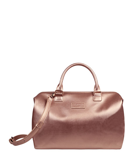 Lipault Pink Gold Lady Plume Bowling Bag, Medium