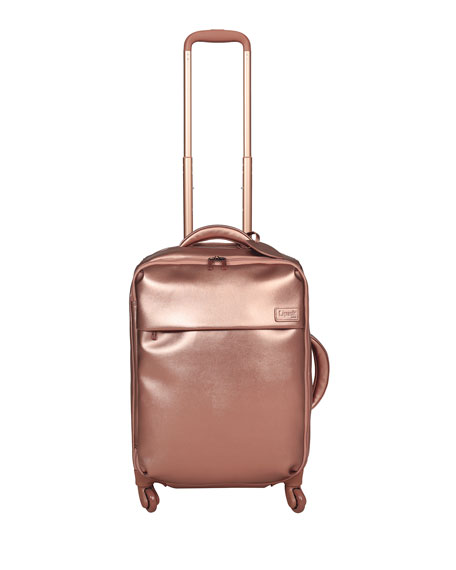 """Pink Gold Miss Plume 20"""" Spinner Luggage"""