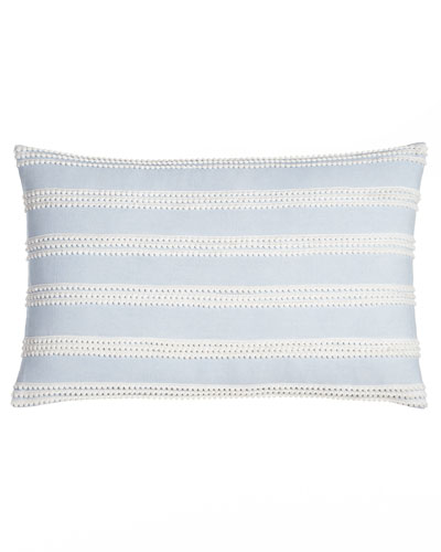 Mini Pompom Stripe Pillow