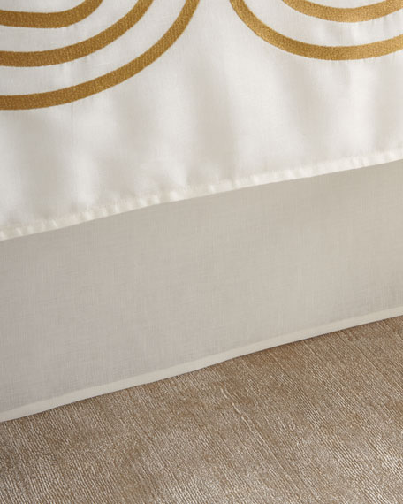 Tailored Queen Linen/Cotton Bed Skirt