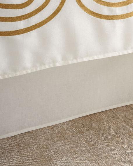 Tailored Queen Linen/Cotton Bed Skirt