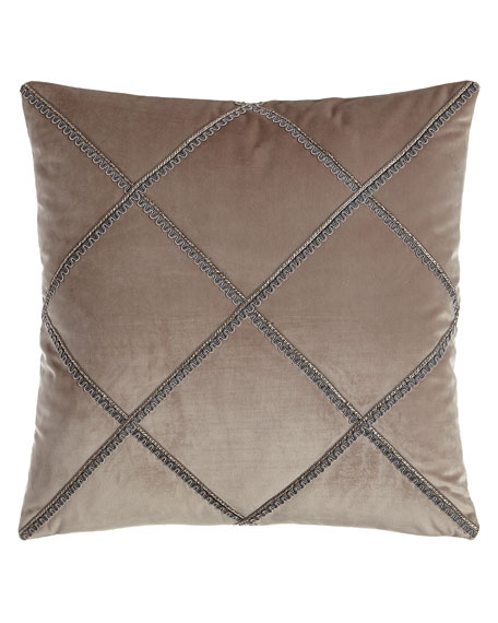 "Tranquility Velvet Pillow, 18""Sq."