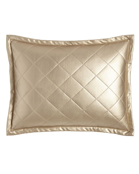 Diamond Faux-Leather Pillow