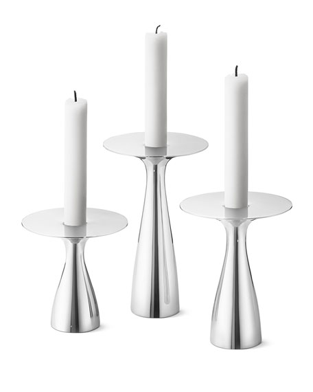 Georg Jensen Alfredo Candleholders, Set of 3
