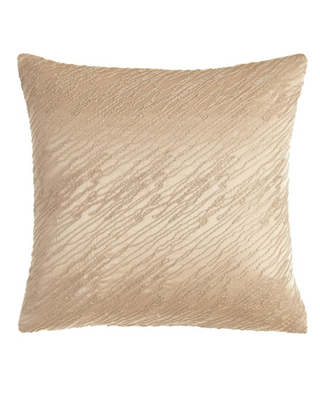 "Awakening Blush Pillow, 14""Sq."
