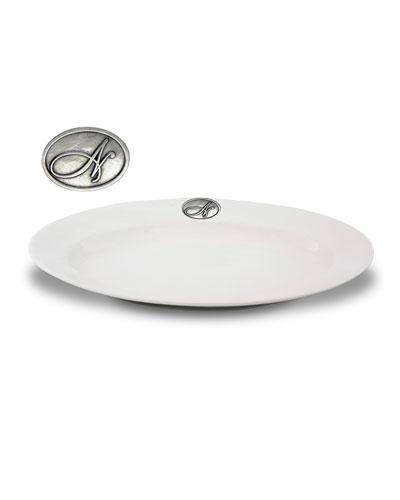 White N Stoneware Platter