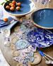 Deep Blue Wood & Enamel Platter