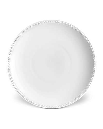 Soie Tressee White Soup Plate