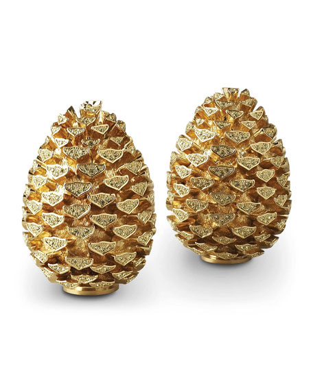 L'Objet Pine Cone Salt & Pepper Set