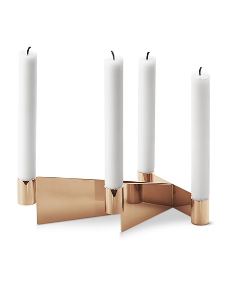 Georg Jensen Urkiola Brass-Colored Candleholder