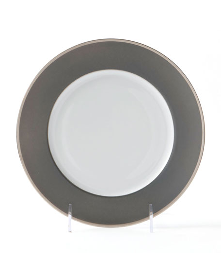 Haviland Color Block Platinum Gray Charger