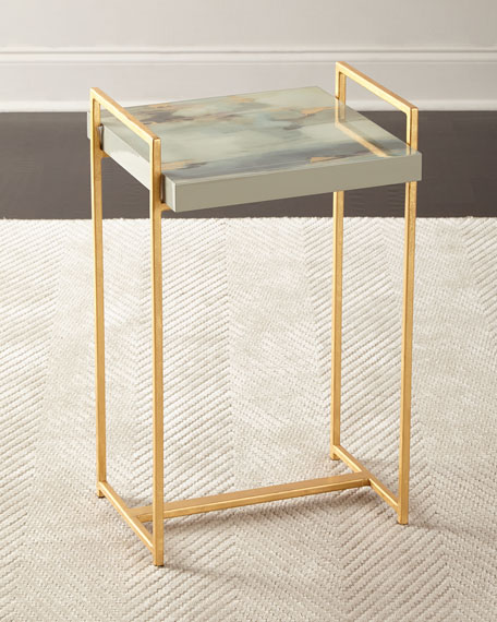 Ambrosia Watercolor Side Table