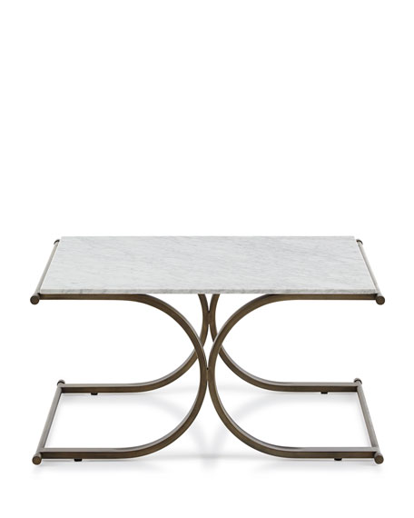 Ryder Marble-Top Square Coffee Table