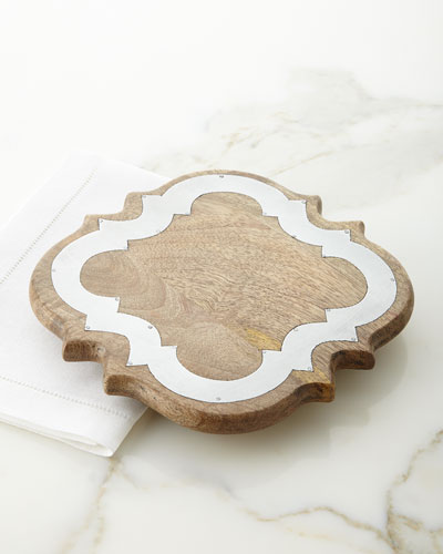 Ogee Wood & Metal Trivet