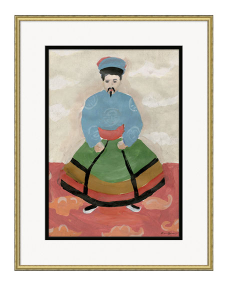 Emperor Giclee, Taupe Background