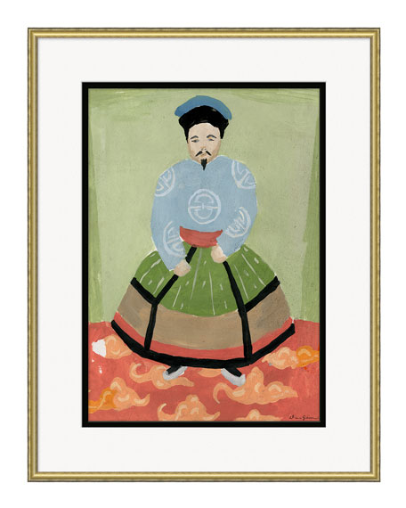 Emperor Giclee, Green Background