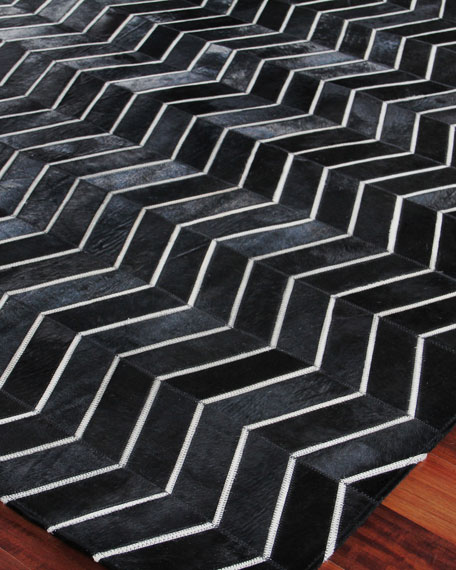 Forbes Hairhide Rug, 5' x 8'