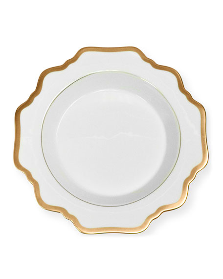 Anna Weatherley Anna Weatherly Antiqued White Soup Plate