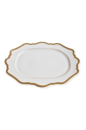 Anna Weatherly ANTIQUE WHITE WITH GOLD OVAL