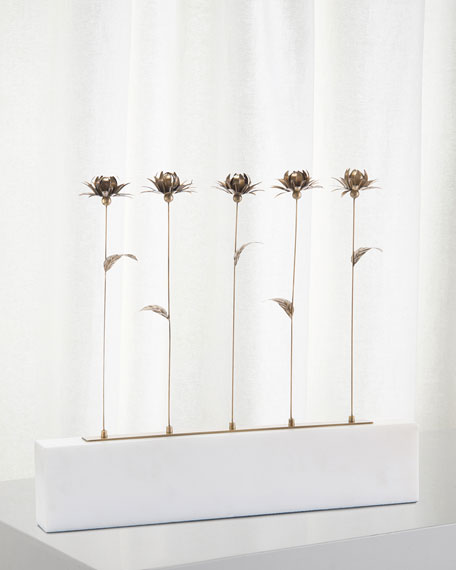 John-Richard Collection Blooms in a Row Sculpture