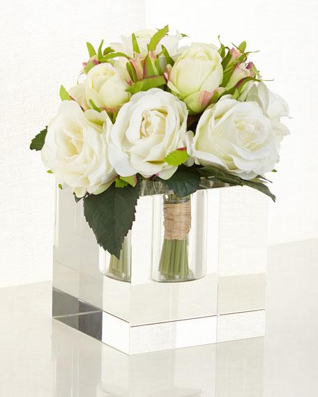 """""""Diamonds & Roses"""" Faux Floral"""