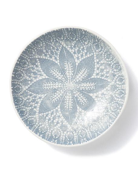 Lace Gray Pasta Bowl