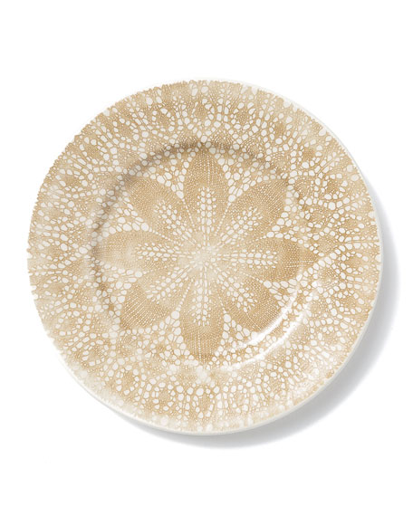 Lace Natural Dinner Plate