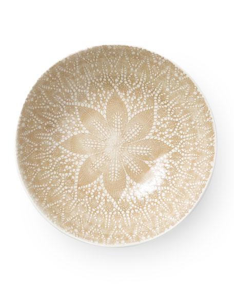 Vietri Lace Natural Medium Serving Bowl