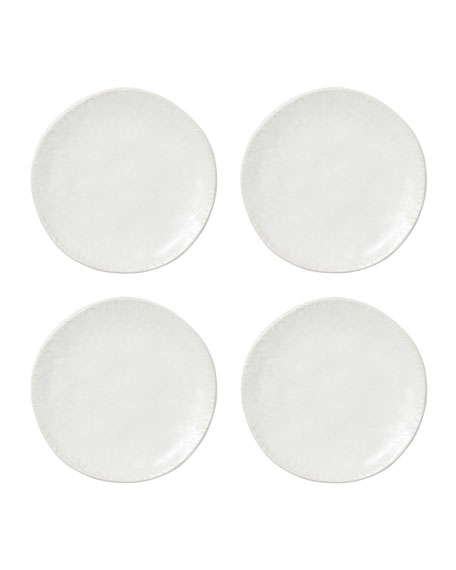 Lace White Cocktail Plates, Set of 4