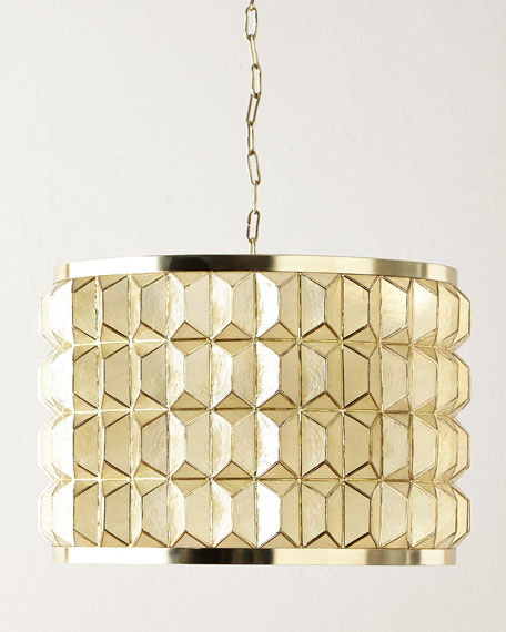 3D Drum 3-Light Pendant