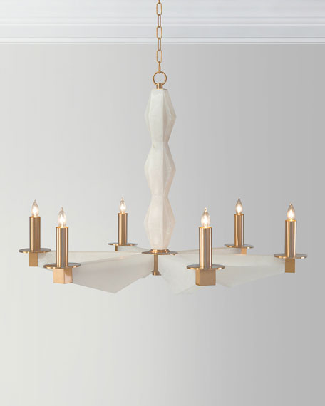 John-Richard Collection 6-Light Sculptural Alabaster Chandelier
