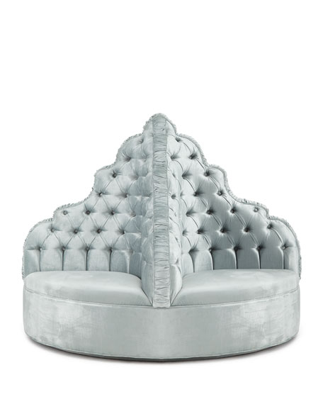 Amour Tufted Party Ottoman