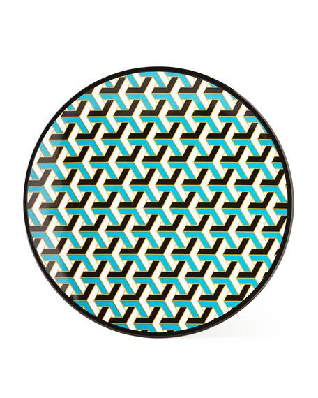 Jonathan Adler Blue Mykonos Melamine Dinner Plate