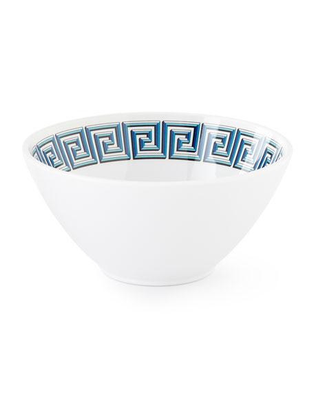 Blue Mykonos Melamine Bowl