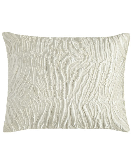 Donna Karan Home Opal Essence Embroidered Pillow, 16