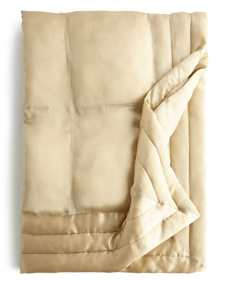 Donna Karan Home Silk Quilted Throw 50x70
