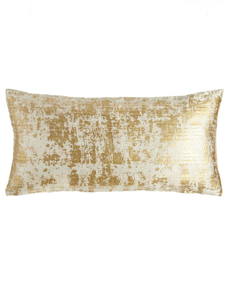 Donna Karan Home Opal Essence Pleat-Front Pillow, 11