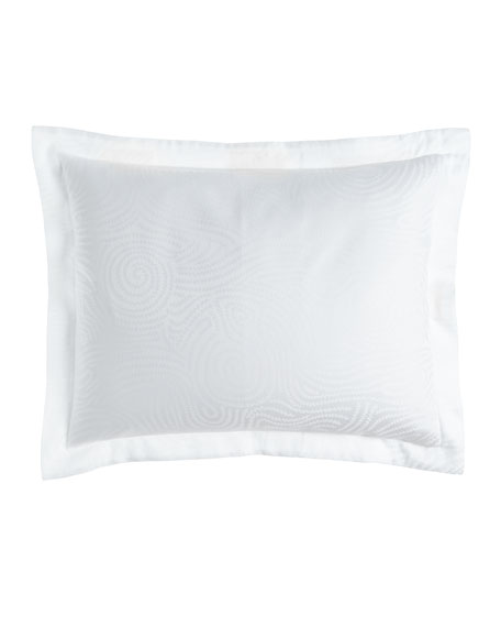 Standard Winter White Scroll Sham