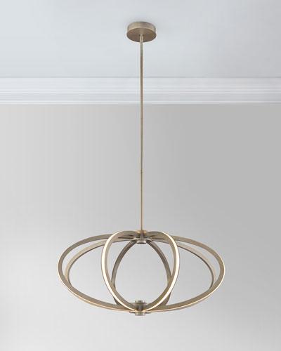 Illuminated Rings LED 8-Light Pendant