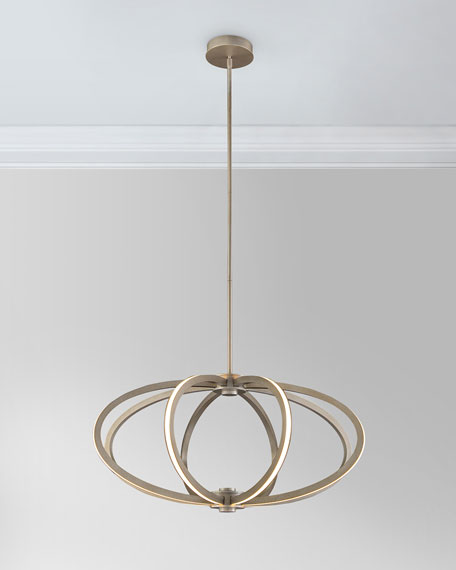 John richard collection illuminated rings led 8 light pendant neiman marcus