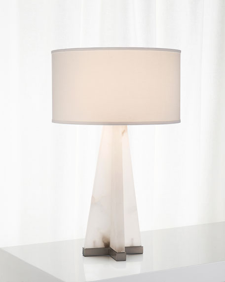 Sculptural Alabaster Table Lamp