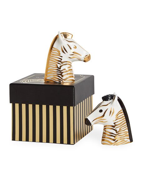 Jonathan Adler Zebra Animalia Salt & Pepper Shakers