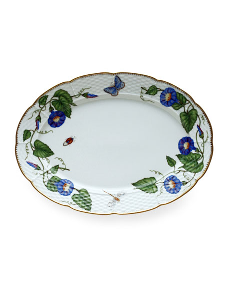 Anna Weatherley Anna Weatherly Morning Glory Oval Platter